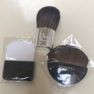 Chanel and Dior mini brush bundle